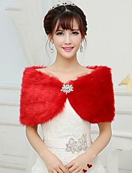 Fur Wraps / Wedding  Wraps Shrugs Sleeveless Faux Fur Wedding / Party/Evening