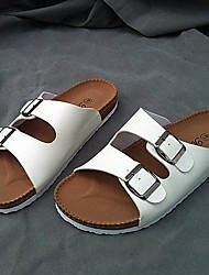 Men's Shoes Casual Leatherette Sandals Black/White
