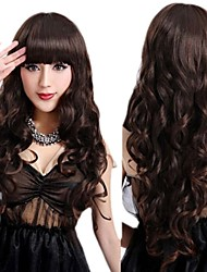 Fashion Girl Natural Black Big Waves Of High Quality Synthetic Hair