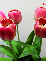 The Simulation Of Large tulip .Plastic And Silk .Set Of 3.