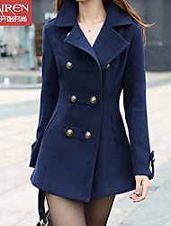 Muairen®Women'Fashion Casual Jacket Slim Wool Coat