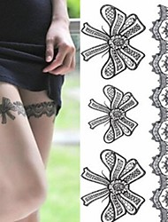 Legs Sexy Silk Stockings Bowknot Tattoo Stickers Temporary Tattoos(1 pc)