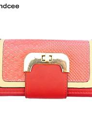 Handcee® Women Casual PU Button Purse Elegance Design Three Fold Lady Purse