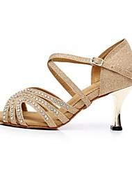 Женская обувь - Бархатная отделка/Мерцающая отделка - Номера Настраиваемый ( Синий/Золотой ) - Латино
