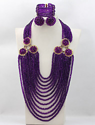 Nigerian Wedding Beads Jewelry Set African Bridal Jewelry Set Crystal
