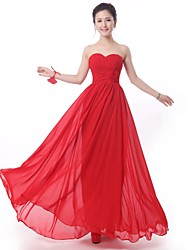 Floor-length Bridesmaid Dress - Ruby A-line Strapless
