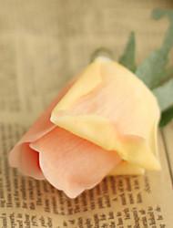 "18""L Bud Rose Silk Cloth Flowers Set of 2 Champagne"