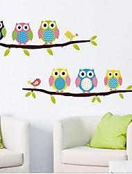búhos preciosos extraíbles de etiqueta de la pared de estar / dormitorio de los niños