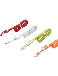 Aluminum Micro USB Charger Charging Sync Data Cable For Samsung Galaxy S3 S4 S5 Note2 Assorted Colors