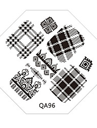 Nail Art Stamp Stamping Image Template Plate QA Series NO.96
