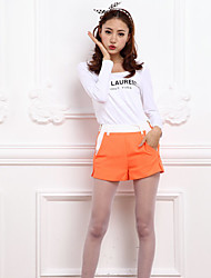 Contrast color high waist shortsCA42121236