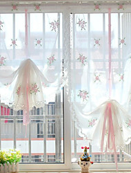 "un panel de 32 ""wx56"" l (82cmwx143cml) floral bordado multicolor botánico poli / borde perforado ropa de imitación pura / /"