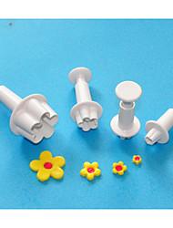quatre c coupe fleur sugarcraft de piston, coupe de conception de gâteau en plastique, des outils de décoration de gâteaux classique