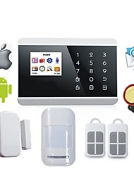 Touch Pstn GSM Alarm System Russian Spanish French with LCD Android IOS App Control for Alarme Casa