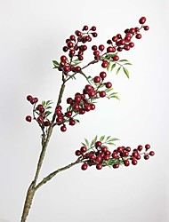 """33.5"""" High Quality Hand-made Artificial Red Fruiting Branch Set of 1"""