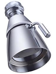 Brass 2-Inch Diameter Spray Face Fixed Mount Wall Shower Head, Chrome