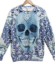 Pull à Capuche & Sweat-shirt ( Coton ) Tous les jours/Sport - Imprimé à Manches longues pour Pour des hommes