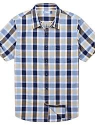 Men's Casual Big Check Cotton Shirts