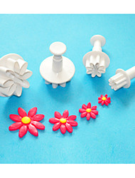 FOUR-C Square Plastic Fondant Cake Decorating Plunger Cutters,Christmas Plunger Cutters,Sugar Craft Tools