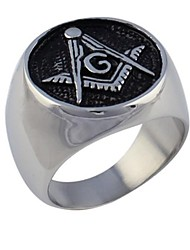 Classic freemasonry Men's  Titanium Steel Rings(As Picture)(1 Pc)