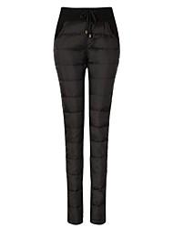ropa de 2015 nuevos pantalones abajo dobles de mujeres eyuer con pantalones de piernas delgadas en invierno espesan significativamente pantalones