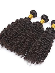 "3pcs / lot 8 ""-28"" tejidos de trama brasileña rizada rizada virginal del pelo 100g / pc brasileña humana del pelo pelo rizado"
