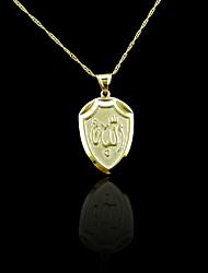 Necklace Pendant Necklaces Jewelry Wedding / Party / Daily / Casual / Sports Gold Plated Gold 1pc Gift