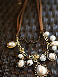 FUALE Fshion   Roman Affection Pearl Necklace