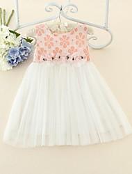 Girl's Summer Elegent Above-knee Medium Sleeveless Dresses