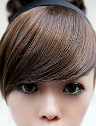 New Special Hair Hoop Wig Brown Bang Modified Face