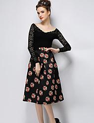 Seng.ni  Women's  European Fashion Elegant Cheap Skirt