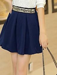saias das mulheres da moda elegante de algodão