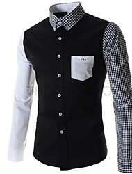 Men's Casual Plaids & Checks/Pure Long Sleeve Shirts (Cotton)