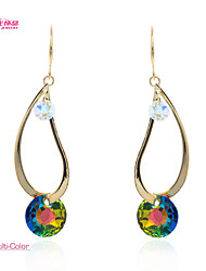 Lady's Gold Plated/Pageant/Fashion Neoglory Jewelry Drop Dangle Earrings with Shake Rainbow Crystal (More Colors)