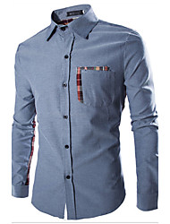 ZHEMINGLI Men's Fashion Assorted Colors All-Matched Check Shirt