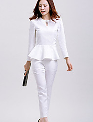 Women's Fashion OL Elegant Suit (Shirt & Pant)