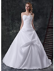 A-line Cathedral Train Wedding Dress -Sweetheart Satin