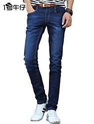 Mens Fashion Jeans Casual Blue Denim Pants Men Straight Trousers Large 810