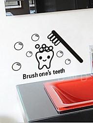 salle de bains sticker PVC cartton amovible environnement