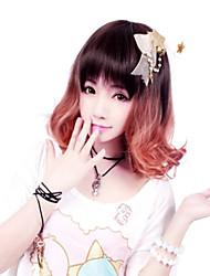 Reißverschluss elegante Fee braunen kurzen bob klassische Lolita Perücke