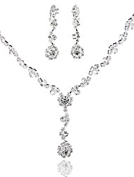 Hot Ladies'/Women's Alloy Wedding/Party Jewelry Set With Rhinestone