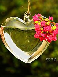 """2.4 """"h coração romântico garrafa de vidro micro paisagem"""