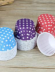 pequena mancha padrão cup cake cozimento, cor aleatória, 50pcs / set