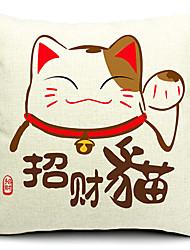 современный стиль китайский состояние кошки с рисунком хлопок / лен декоративная подушка крышка