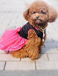 Dog Dress Black Summer Bowknot Wedding / Cosplay