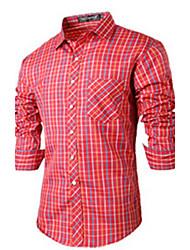 Thomas Men's Casual Shirt Collar Long Sleeve Casual Shirts