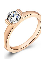 Austria Crystal Rose Gold Plated single Diamond Ring