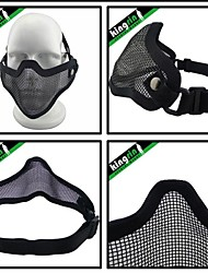 MA-20 Tactical V1 Strike Steel Half Face Mask (One Belt Version) hard face airsoft bb tmc mask
