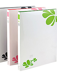 30 páginas de la carpeta de papel escuela impermeable de plástico rosa a4 (3pcs)