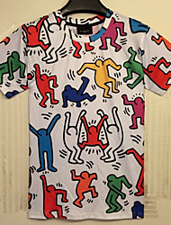 Men's Round Casual Shirts , Cotton Short Sleeve Casual NY007